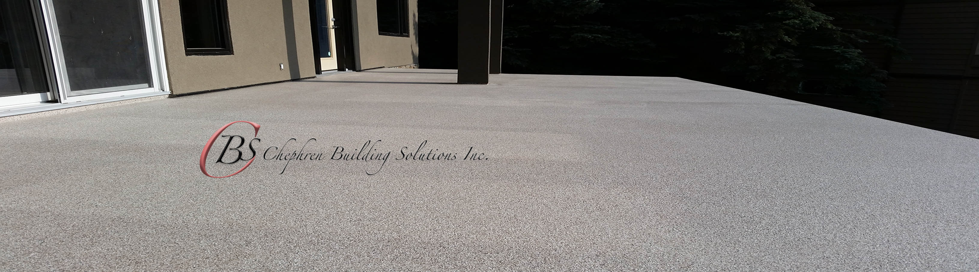 Roof Deck coated with flexstone